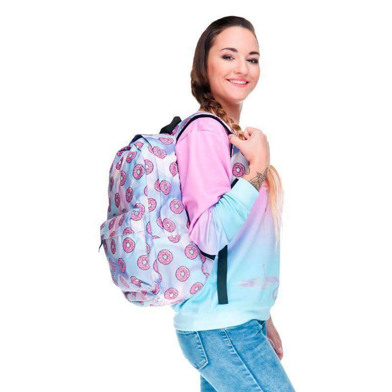 Oxford Print Donut Backpack, Backpack > Donut Backpack > Oxford Backpack - Dgitrends