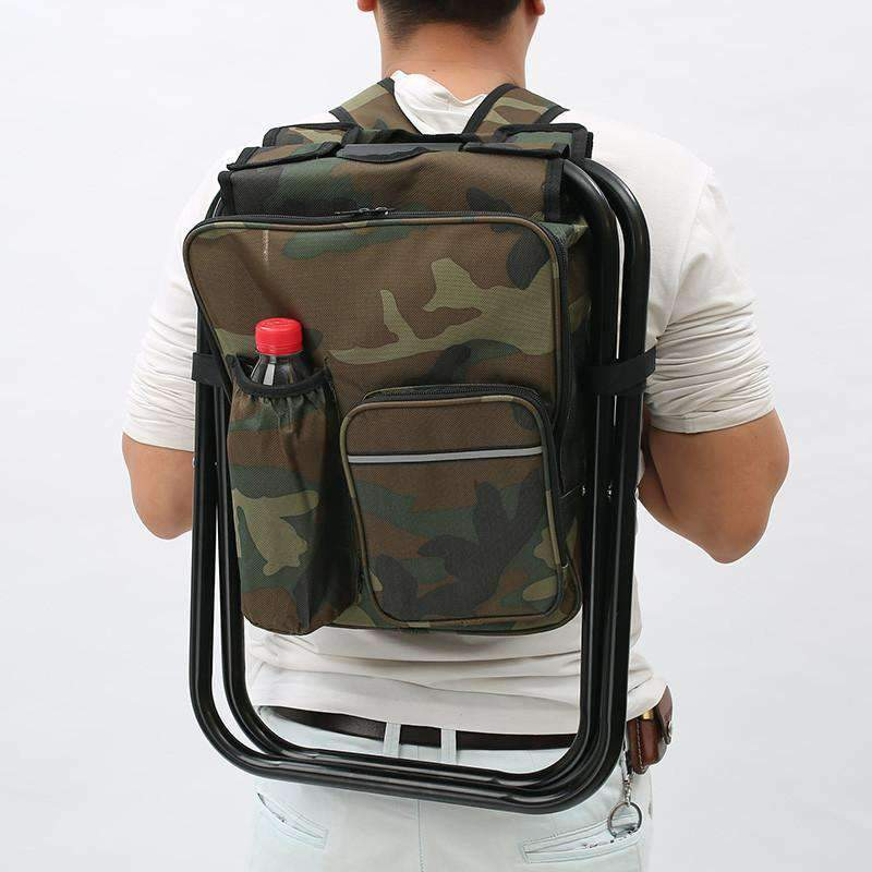 Camping Chair Backpack With Built-In Cooler, Backpack With Built-In Cooler > Folding Backpack > Cold Storage Backpack - Dgitrends
