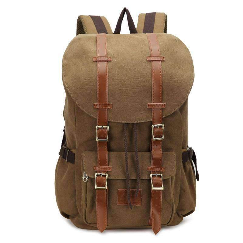 Vintage Canvas Rucksack Laptop Backpack - Dgitrends