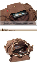 Vintage Rucksack Travel Backpack - Dgitrends