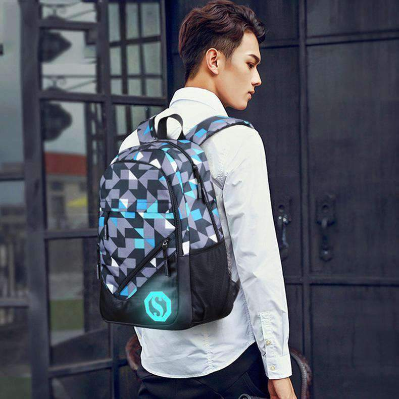 Light Up Laptop Backpack with Charging Port, Backpack > USB Backpack > Padded Laptop Backpack - Dgitrends Watches Gadgets & Accessories