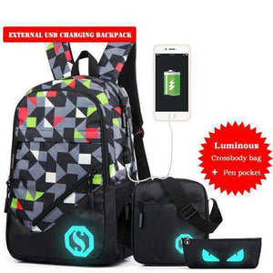 Light Up Laptop Backpack with Charging Port, Backpack > USB Backpack > Padded Laptop Backpack - Dgitrends