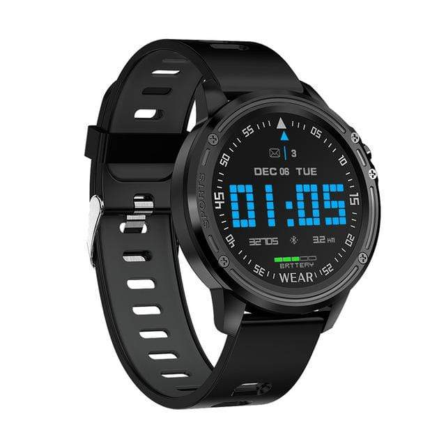 Dgitrends black L8 Smart Watch Men IP68 Waterproof Reloj  Hombre Mode  SmartWatch With ECG PPG Blood Pressure Heart Rate sports fitness watches