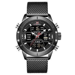 Men Watch Top Luxury Brand Military Sport Wrist Watches Stainless Steel LED Digital Clock, Miulitary Watch - Dgitrends