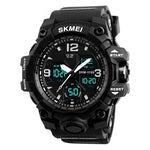 Dgitrends Black SKMEI New Fashion Men Sports Watches Men Quartz Analog LED Digital Clock Man Military Waterproof Watch Relogio Masculino 1155B