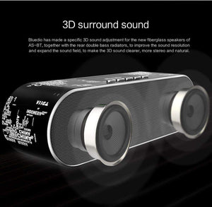 Bluedio AS Old School Mini Bluetooth Speaker With 3D Stereo Surround, Bluetooth Speaker - Dgitrends