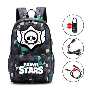 Brawl Stars Light Up Backpack With USB & Headphone Jack, Brawl Stars bk - Dgitrends