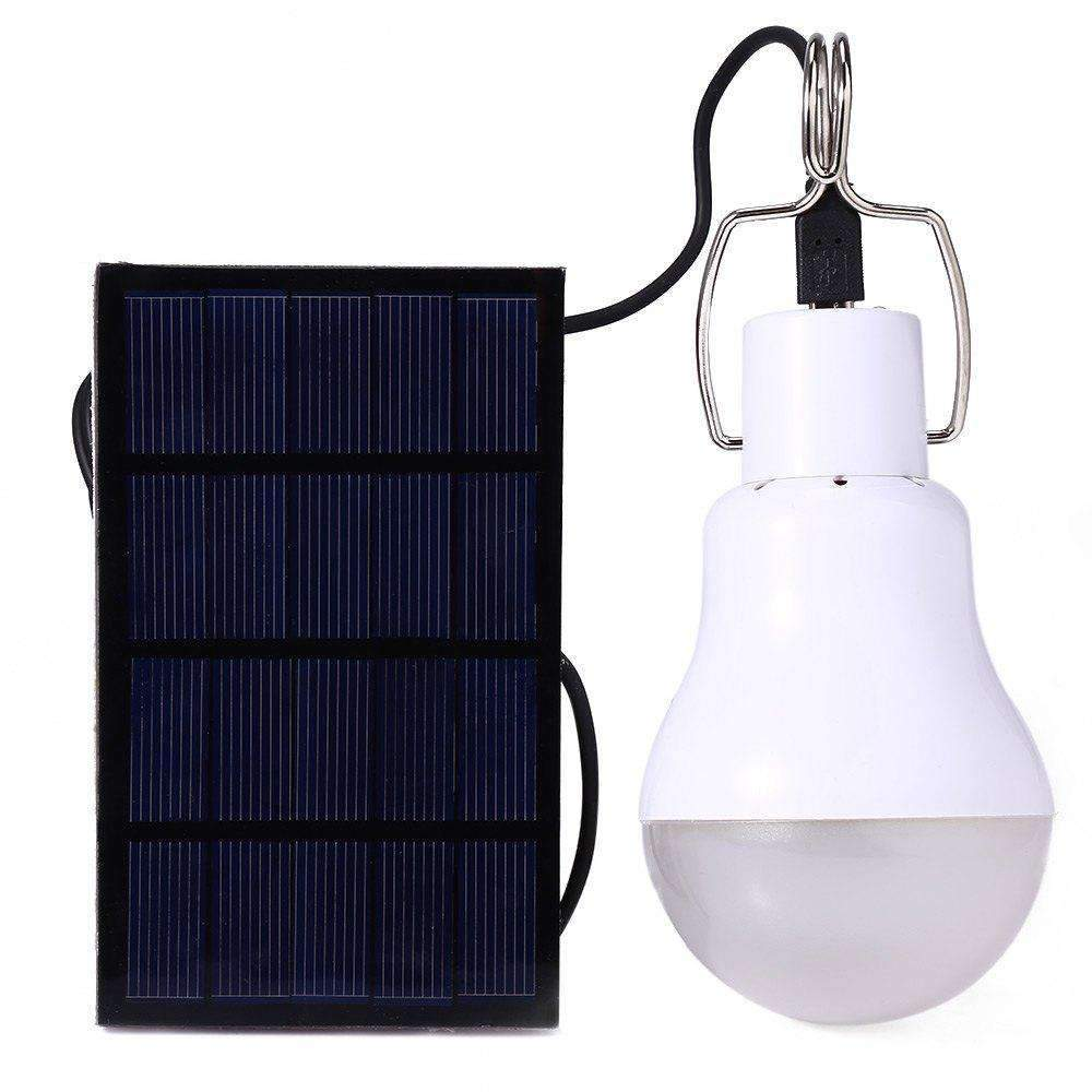 Backpacking Solar Charger With LED Bulb, LED Light Bulb With Solar Charger - Dgitrends