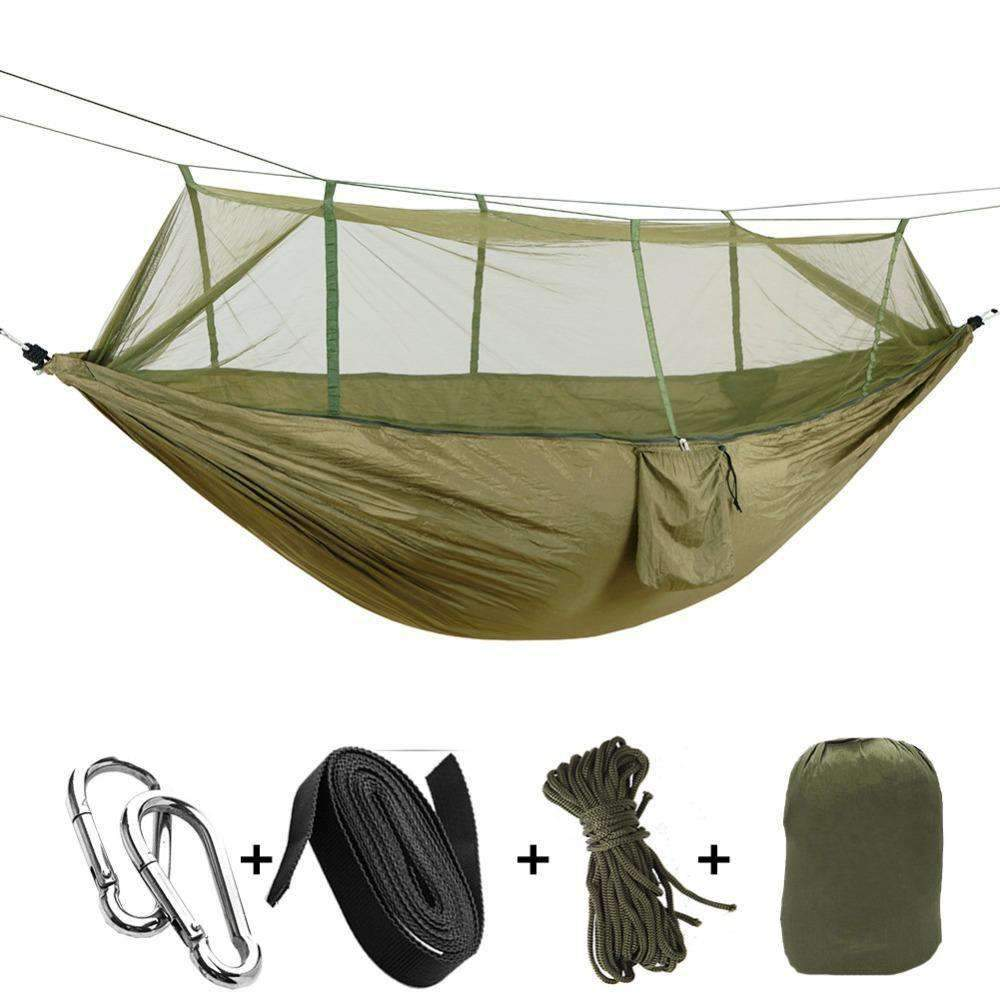 Parachute Hammock With Mosquito Net, Camping Gear - Dgitrends