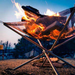 "Portable Fire Pit Folds To 4.5""x24"", Portable Fire Pit Bonfire Pit Collapsible Fire Pit - Dgitrends"