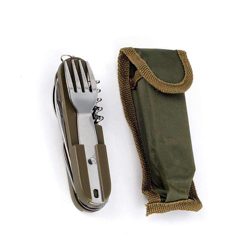 Stainless Steel Flatware & Carrying Case, Camping Gear - Dgitrends