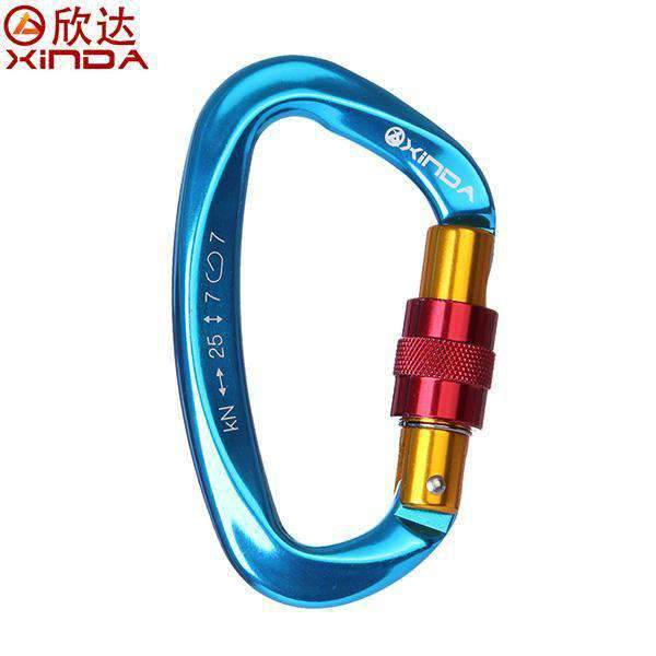 "XINDA 25KN Professional ""D-TYPE"" Carabiner Safety Master Lock - Dgitrends"