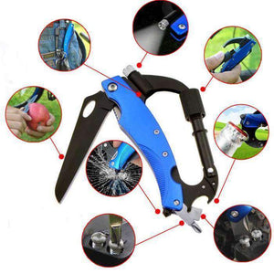 EDC Carabiner Multi-Tool With Glass-Break & LED Mag Light, Tools > Carabiner > Multi Tools > EDC > Carabiner Multi Tools - Dgitrends