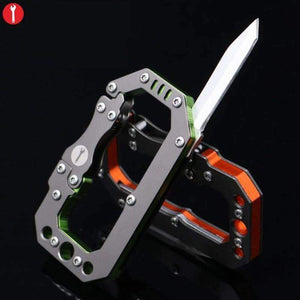 Stainless Steel Spring Loaded Carabiner Multi Tool, Tools > Carabiner > Multi Tools > EDC > Carabiner Multi Tools - Dgitrends Watches Gadgets & Accessories