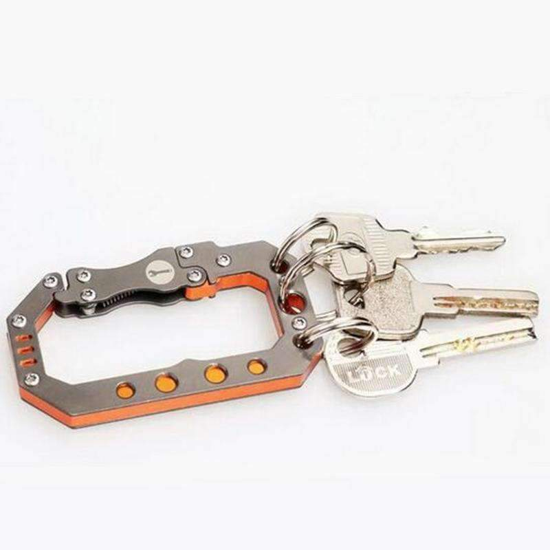 Stainless Steel Spring Loaded Carabiner Multi Tool, Tools > Carabiner > Multi Tools > EDC > Carabiner Multi Tools - Dgitrends