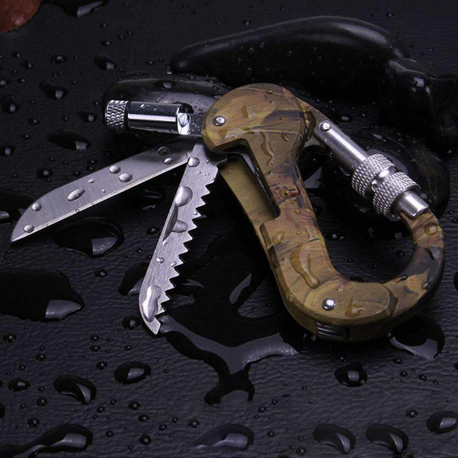 Quick-Draw Carabiner Multi Tools With Micro LED, Tools > Carabiner > Multi Tools > EDC > Carabiner Multi Tools - Dgitrends