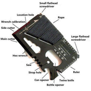 SOS Survival Tool Card, EDC > Multi Tool > Everyday Carry Multi Tool - Dgitrends