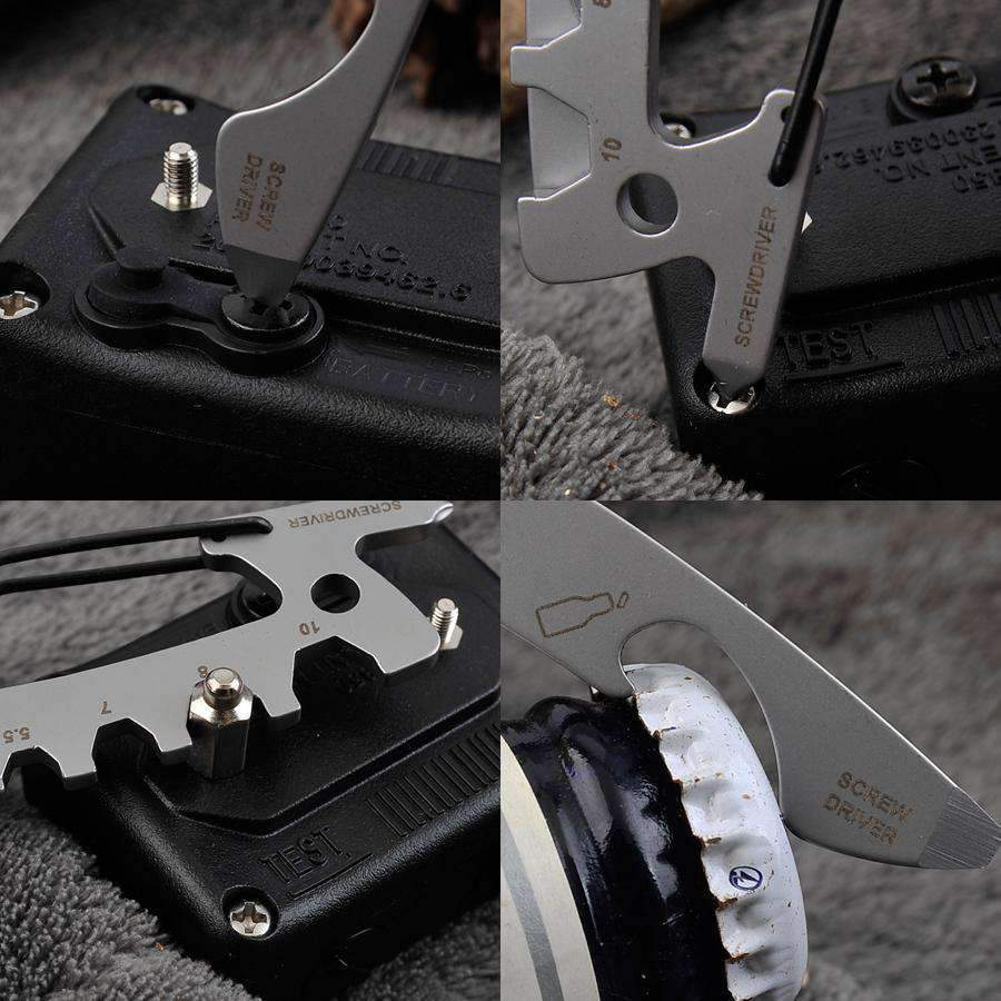 Stainless Steel EDC Carabiner Multi Tool With Open Wrench Fittings, Tools > Carabiner > Multi Tools > EDC > Carabiner Multi Tools - Dgitrends