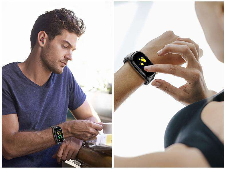 Smart Watch And Bluetooth Earbuds, Fitness Tracker Smart Band Bracelet - Dgitrends