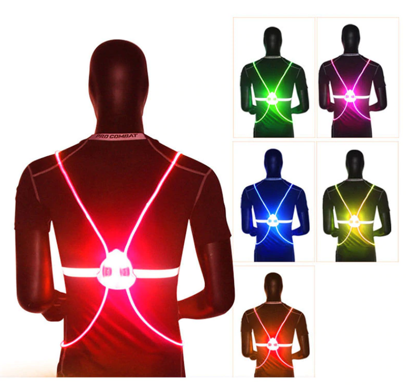 LED Light Up Running Vest