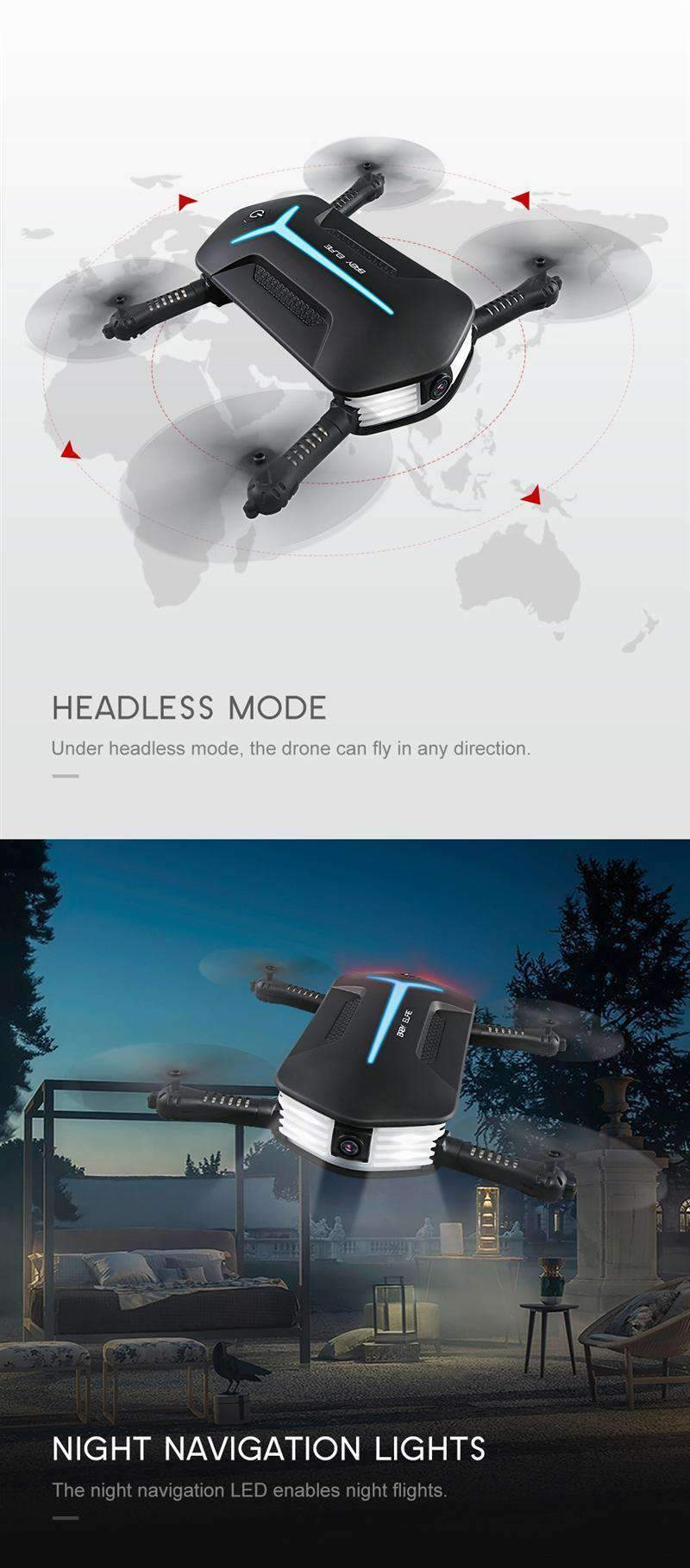 Folding Drone With Headless Mode, Folding Drone - Dgitrends
