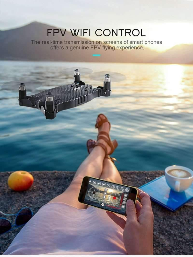 Mini Folding Drone with 720P HD Wifi FPV Camera, Folding Drone - Dgitrends