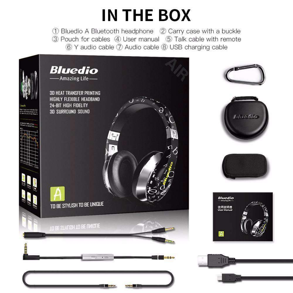 Bluedio A (Air) 3D Surround Twistable Headphones with Microphone, Headphones - Dgitrends