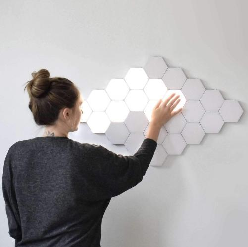 Quantum Touch™ Modular Hexagonal Touch LED Lights, Helios Hexagonal Lamps LED Modular Touch Lights - Dgitrends