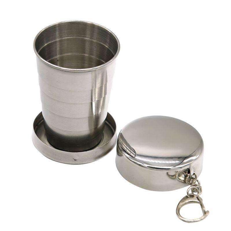 Collapsible Stainless Steel Travel Cup, Hiking Gear - Dgitrends Watches Gadgets & Accessories