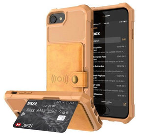 iPhone Wallet Case With Magnetic Back & Button Clusure, iPhone Wallet Case - Dgitrends