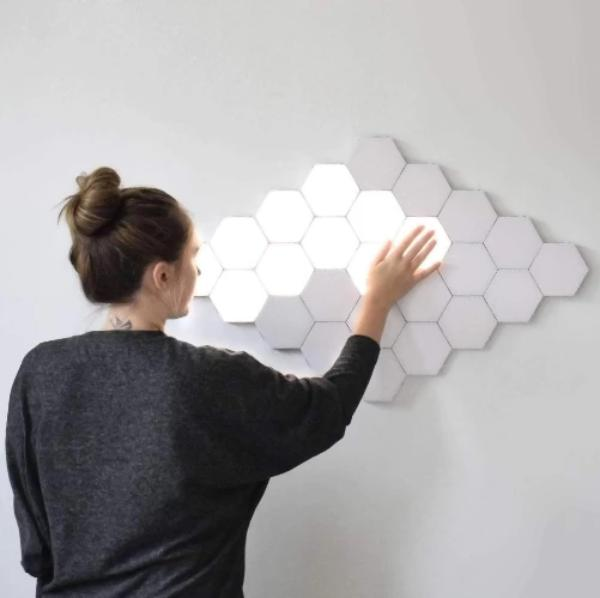 Quantum Touch™ Hexagonal Touch LED Lights, Helios Hexagonal Lamps LED Modular Touch Lights - Dgitrends