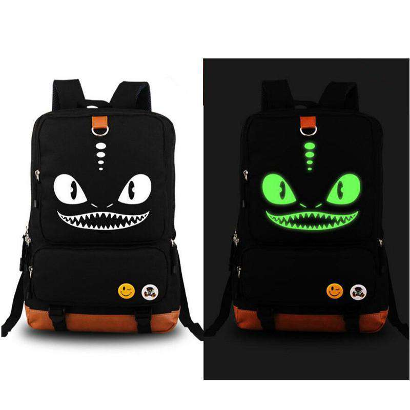 Dragon Backpack With Night Glow Design, Light Up Backpack Dragon Backpack - Dgitrends