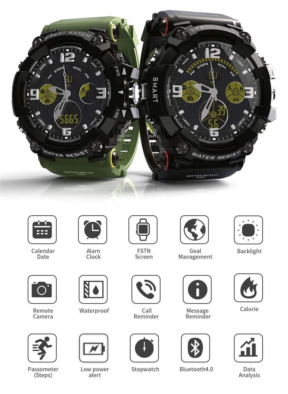 Tactical Smartwatch For Android & iOS With 1.58 Inch LCD Screen, Miulitary Watch - Dgitrends