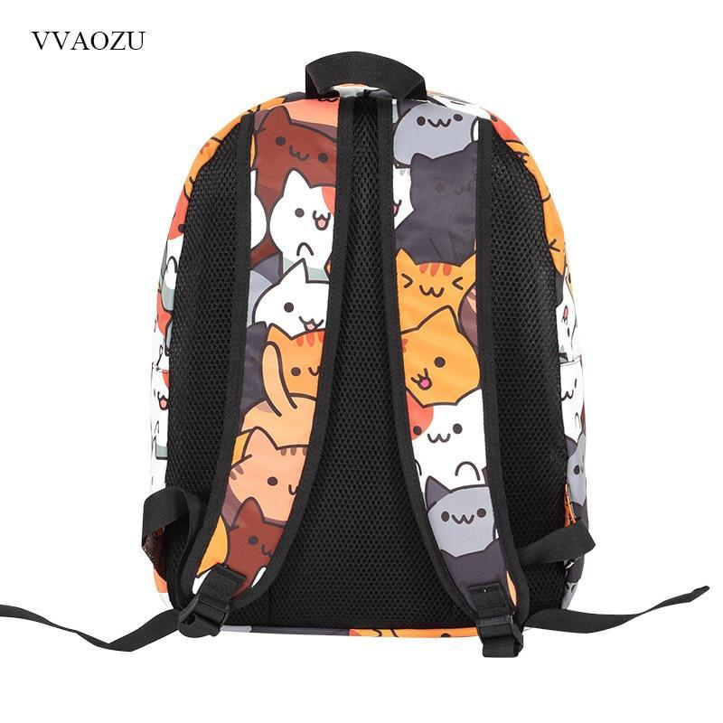 Anime Backpack Neko Atsume, Neko Atsume Anime Backpack - Dgitrends