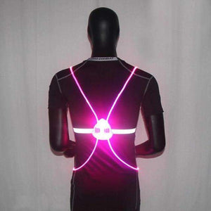 LED Light Up Running Vest Pink