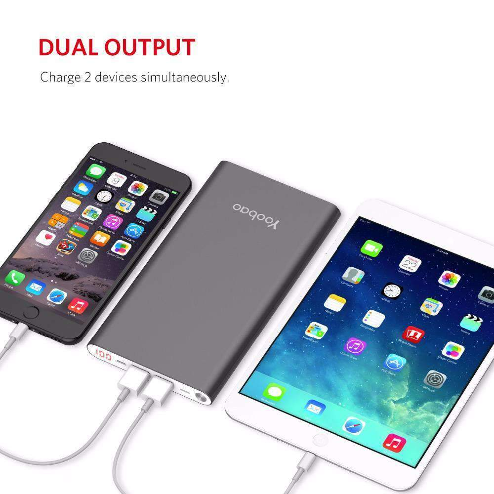 Dual Charge Power Bank 20,000 mAh, Power Bank > Dual Port Power Bank > USB Power Bank > Portable Phone Charger > Universal Power Bank Charger - Dgitrends