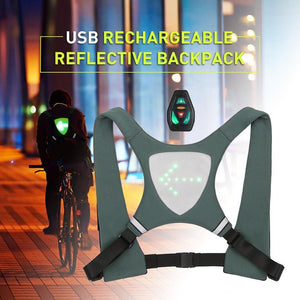Rechargeable Runners vest with directional indicator, Rechargeable Runners Vest - Dgitrends