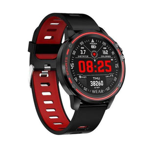 Dgitrends red L8 Smart Watch Men IP68 Waterproof Reloj  Hombre Mode  SmartWatch With ECG PPG Blood Pressure Heart Rate sports fitness watches