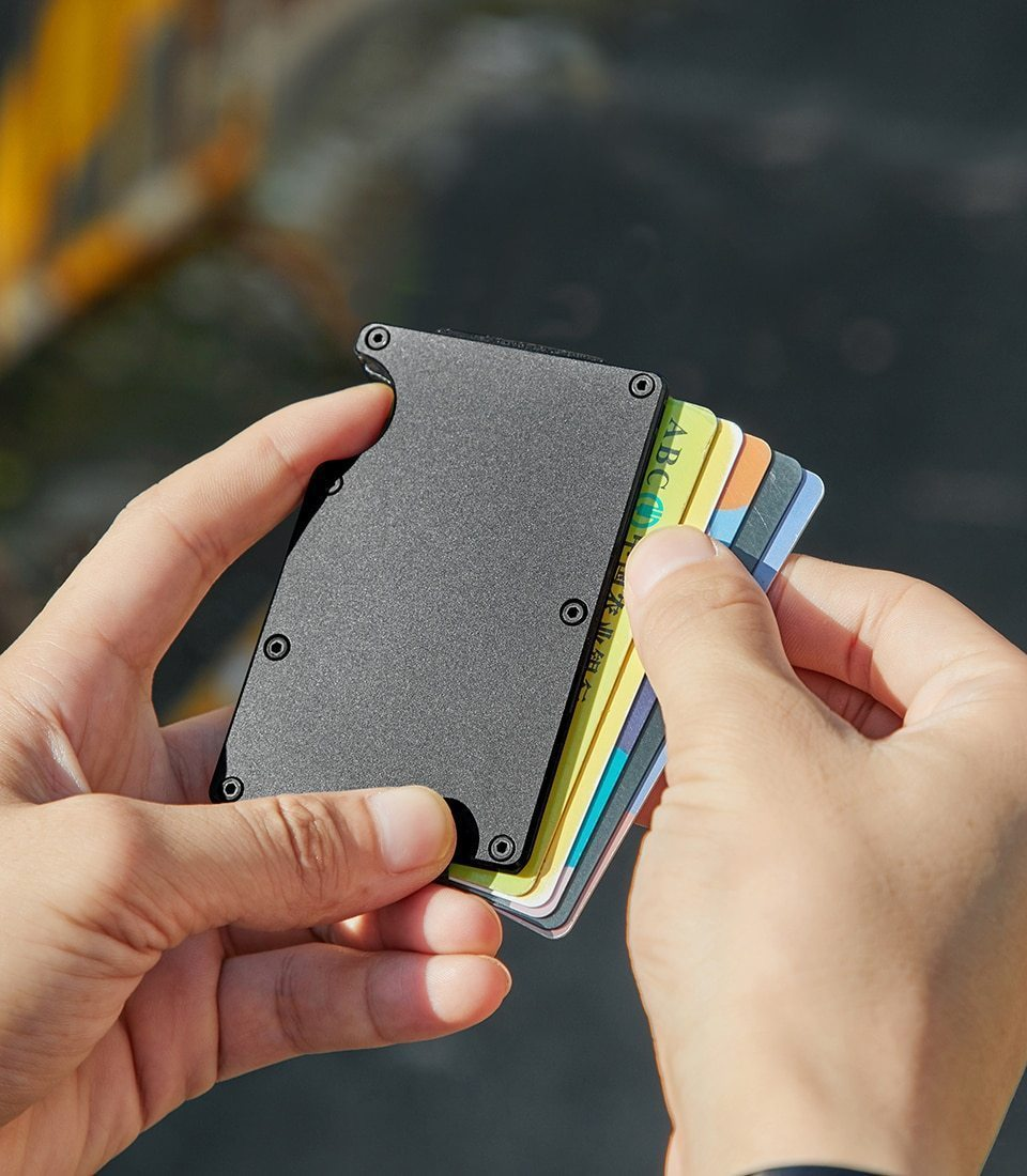 RFID Blocking Anti Scan Money Clip Wallet - Dgitrends