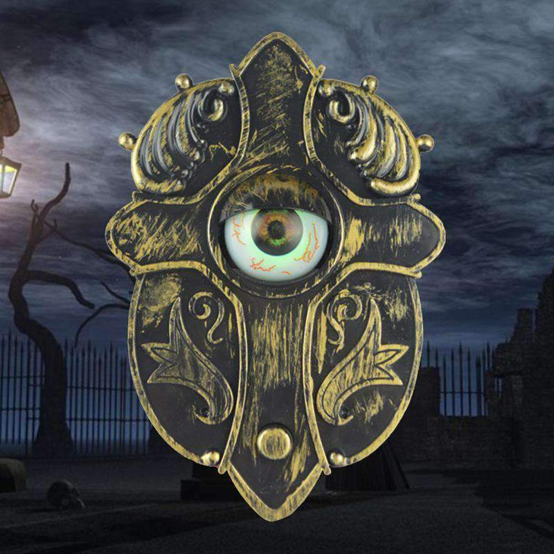 Animated Halloween Doorbell With Creepy Eyeball, Seasonal Decoration - Dgitrends
