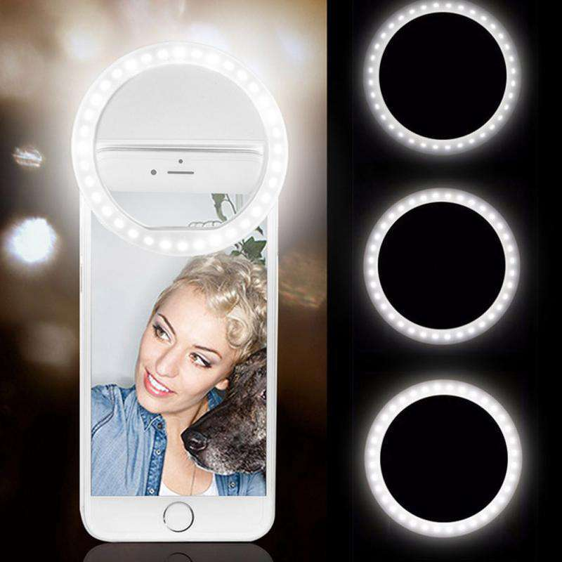 Clip-On Selfie Ring Universal LED Ring Clip For Mobile Phones, Selfie Light Case For iPhone > iPhone Selfie Case > Integrated iPhone Selfie Case > Best iPhone Selfie Light > iPhone 5 Case > iPhone 6 Case > iPhone 7 Case > iPhone 8 Case > iPhone X Case - Dgitrends