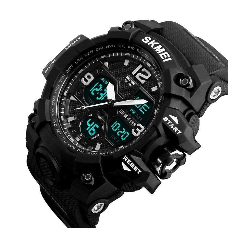 Dgitrends SKMEI New Fashion Men Sports Watches Men Quartz Analog LED Digital Clock Man Military Waterproof Watch Relogio Masculino 1155B