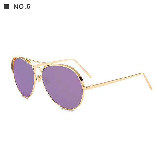 Super-Retro Chic Aviator Sunglasses, Sunglasses > Eyewear > Daily Use Sunglasses > Inexpensive Sunglasses > Sunglasses For Less - Dgitrends