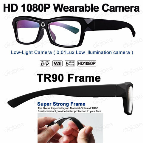 HD Video Recorder Camera Glasses