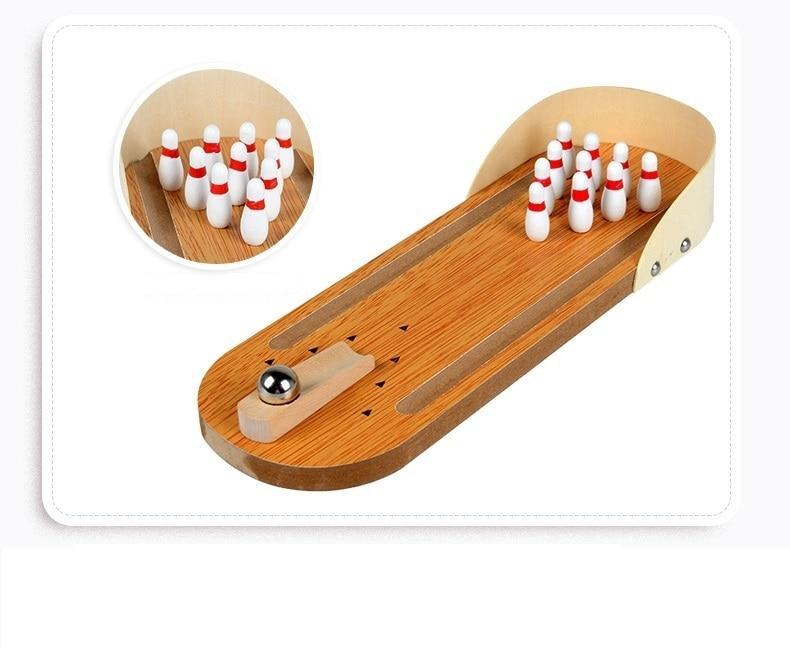 Mini Table Top Bowling Game, Tabletop Board Game - Dgitrends