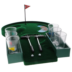 Mini Table Top Golf Drinking Game Set with Shot Glasses, Tabletop Board Game - Dgitrends