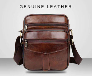 Leather Messenger Bag, Travel Accessory - Dgitrends