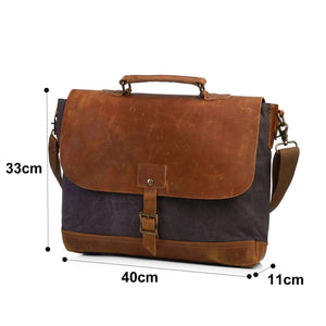 Canvas Laptop Briefcase - Dgitrends
