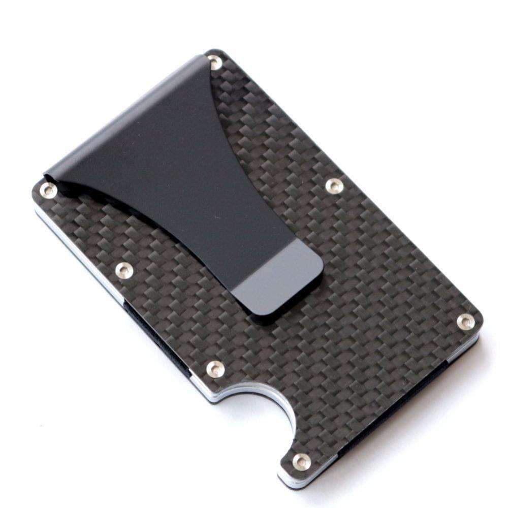 Carbon Fiber Minimalist Wallet With Money Clip, Minimalist Carbon Fibre Wallet - Dgitrends Watches Gadgets & Accessories