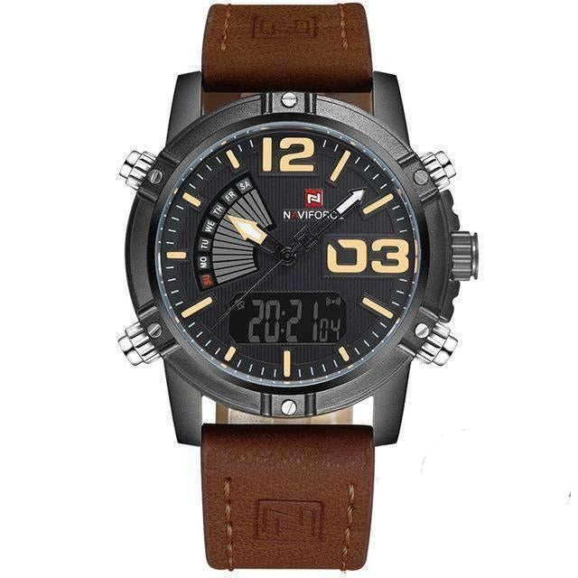 Water Resistant Military Sport Watch, Watch > Military Watch With Leather Band - Dgitrends